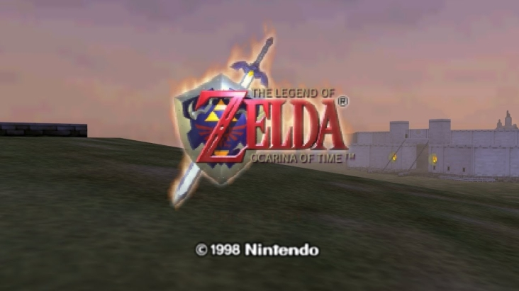 Ocarina of Time Title Screen